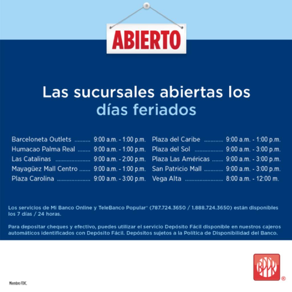 Servicios Y Horarios De Dias Feriados Y Fines De Semana Popular Blog