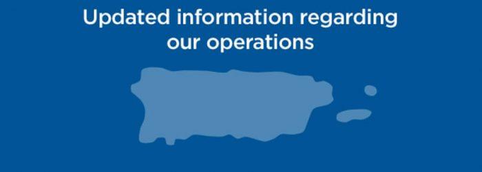 Actualización de nuestras operaciones / Update to our operations