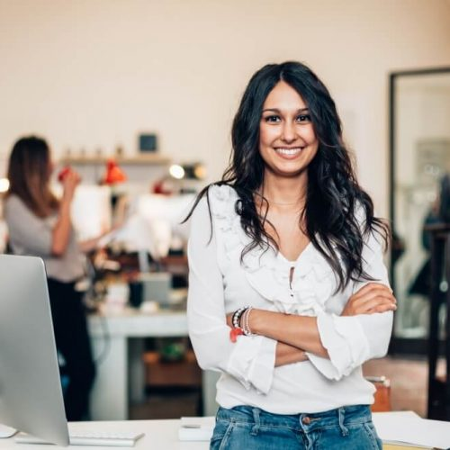 Start up of enterprise, women leader the new company self-confident; Shutterstock ID 487666249; Job: 002; Client/Licensee: x; Other: x