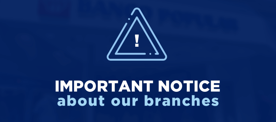 Important Notice about our branches