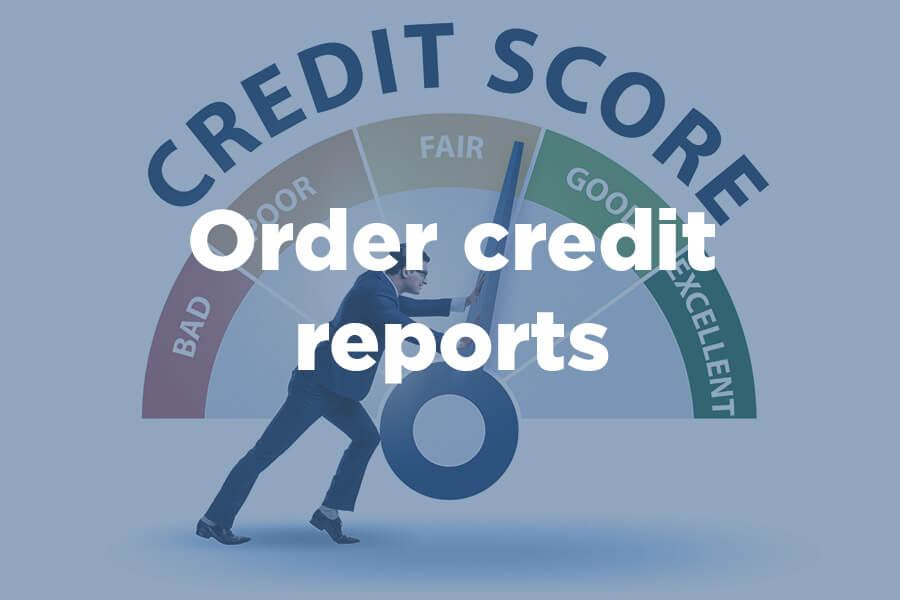 Man pushing a needle measuring credit scores